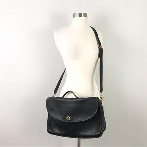 Coach Vintage Messenger Bag Black Leather